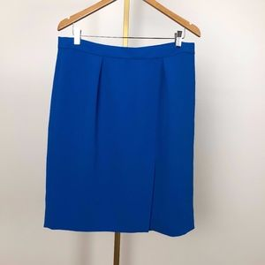 J. Crew Cobalt Blue Straight Skirt with slit